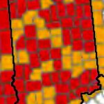 Red: primary. Gold: continguous. Source: http://www.fsa.usda.gov/Assets/USDA-FSA-Public/usdafiles/Disaster-Assist/Disaster/ALL_CROP_CY2015.pdf