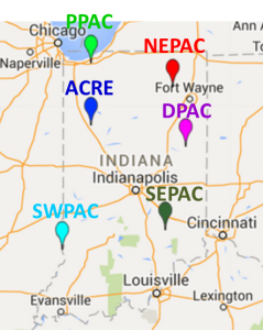 Figure 1 Purdue agricultural centers