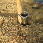 Figure 1. Take soil samples at 6 inches deep
