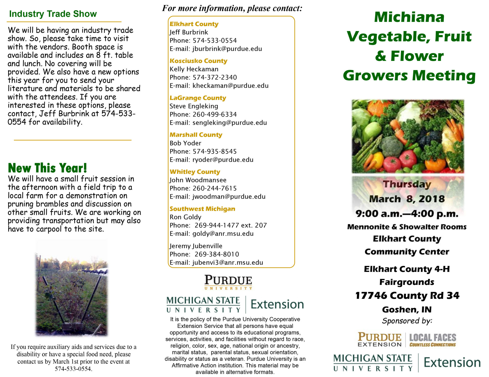 Upcoming Events | Purdue University Vegetable Crops Hotline