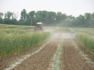 The Purdue MELCAST system allows growers to apply foliar fungicides according to weather conditions instead of using a calendar-based system.