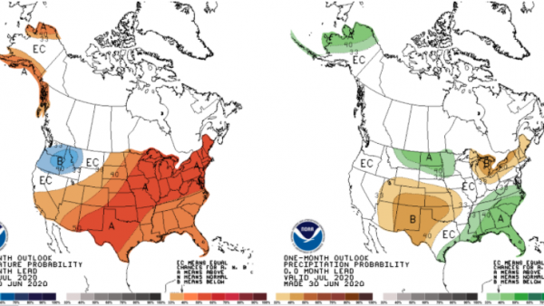 Outlooks Showing Confidence for Below-normal Precipitation