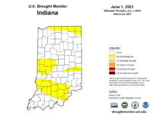 Figure 2. The US Drought Monitor status for June 1, 2021.